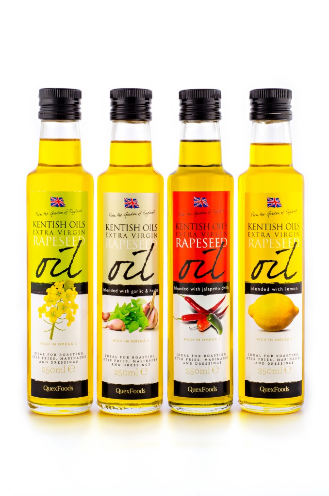 Extra Virgin Rapeseed & Infused Oils in 250ml bottles
